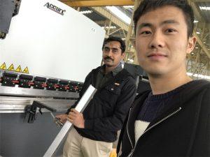 Algeria Client de testare de presă Masina de frână în fabrica noastră
