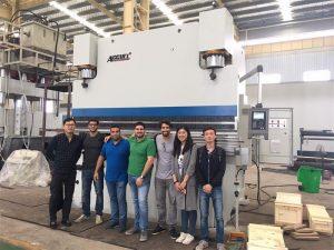 Clienții din Brazilia vizitează fabrici și cumpăra mașini de frână presate