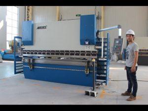 CE 2 axe CNC Presă de frână 130Tx3200 E200 Sistem de comandă NC NC Presă de frână mașină