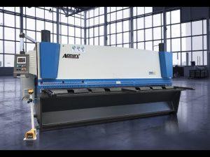 Mașină de forfecare ghilotină hidraulică MS8 8x4000mm cu geantă ELGO P40T touch screen CNC